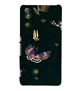 Butterflies Wallpaper 3D Hard Polycarbonate Designer Back Case Cover for Sony Xperia M5 Dual :: Sony Xperia M5 E5633 E5643 E5663