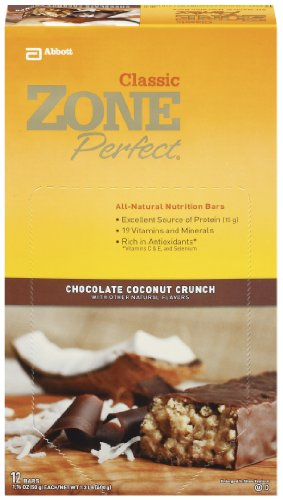 ZonePerfect All Natural Nutrition Bar, Chocolate Coconut Crunch, 1.76-Ounce Bars in 12-Count Boxes (Pack of 2)
