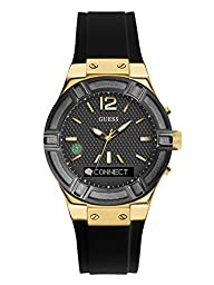 GUESS Women\'s C0002M3 GUESS CONNECT Chic Fashionable Black Smartwatch Where Fashion Meets Lifestyle Functionality