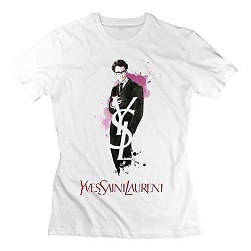 Merry Emperor Yves Saint Laurent T-shirt White For Women Cotton