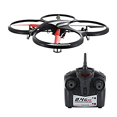 Skque® 2.4GHz 4 Channel 6-Axis Infrared Remote Control X-Drone Quadcopter w/ Gyro (NO.H07N) by Skque