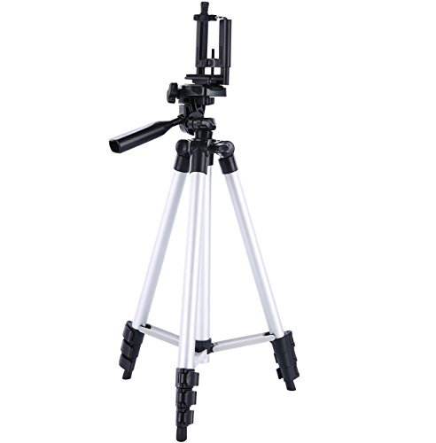 Digiant 50 Inch Aluminum Camera Tripod + Universal Tripod Smartphone Mount for Apple, Iphone Samsung and Other Brands Smartphones (Unit Iphone Case compare prices)