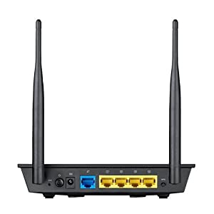 ASUS Wireless-N300 (Up to 300Mbps) Router with 2T2R MIMO Technology ideally for streaming 4K HD Video, placing VoIP calls, and performing other essential internet tasks (RT-N12) (Color: BLACK, Tamaño: Up to 300 Mbps)