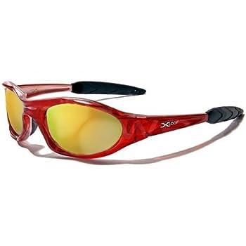 X-Loop Lunettes de Soleil - Sport - Cyclisme - Ski - Conduite - Moto - Plage / Mod. 2044 Rouge Translucide / Taille Unique Adulte / Protection 100% UV400