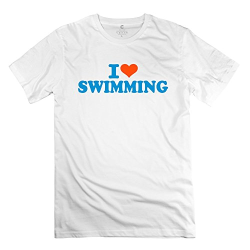Love Swimming Printing 100% Cotton T-Shirt For Boy back-238284