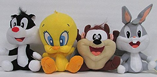 looney-tunes-4-piece-plush-set-featuring-baby-bugs-bunny-baby-taz-tasmanian-devil-baby-sylvester-the