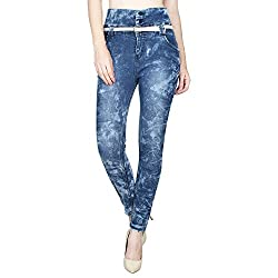 Ajaero Slim Fit Denim Lycra Upper Waist Women Jeans (Blue, 30)