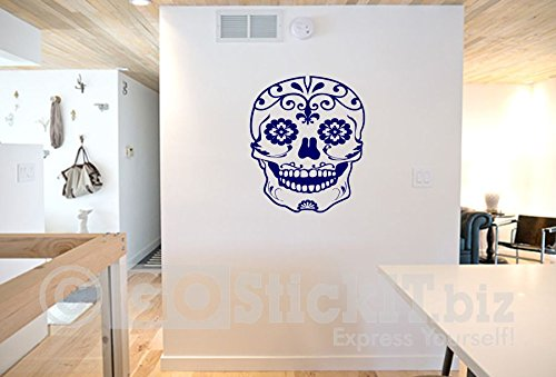 GOStickIT- Sugar Skull 2 Calevera Day of the Dead Vinyl Wall Decal