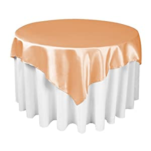 Amazon.com - LinenTablecloth 60-Inch Square Satin Overlay Peach