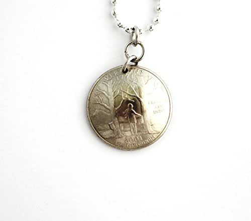 vermont quarter domed coin necklace pendant