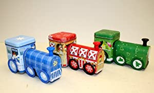 Train Shaped Box - Holiday Christmas - Gift Metal Tin New 977107-6 (1 Style Only)