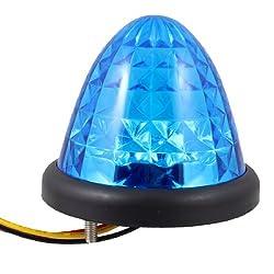 Banggood Auto Car Lighting Cone Shaped Wired 16 Blue LEDs Light Lamp Bulb