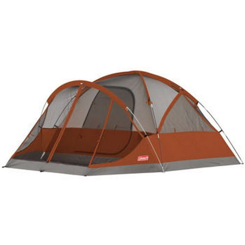 Coleman 4-Person Evanston Tent with Screened Porch Canopy 9 Ft x 7 Ft Fits Queen Bed