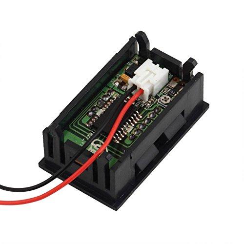 10Pcs Mini Digital Voltmeter 4.5-30V Red Led Vehicles Motor Voltage Panel Meter