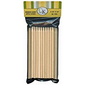 Oasis Supply 50 Count Wooden Candy Apple Sticks, 5.5-Inch