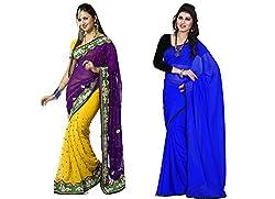 Red Carpet Georgette Bollywood replica Sari