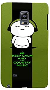 PrintVisa Music Cute Quotes Case Cover for Samsung Galaxy Note Edge
