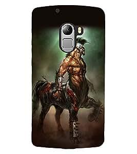 ColourCraft Horse Warrior Design Back Case Cover for LENOVO A7010