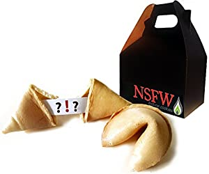 NSFW Fortune Cookies: Inappropriate Edition (Explicit Adult Content) Gift Box (5 Count)