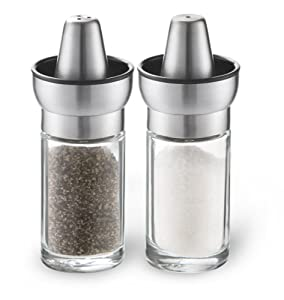 Cuisaid Iconic Cone Shaped Salt & Pepper Set (Stainless Steel)