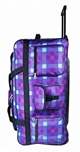 Jazzi 30 inch Large Wheeled Holdall Bag Plain or Printed Design