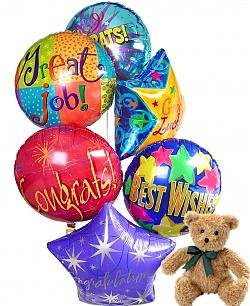 Congratulations Balloons & Bear-6 Mylar
