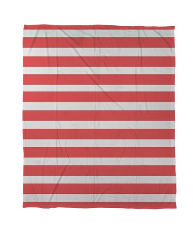 Thumbprintz Coral Fleece Throw Blanket, 50 By 60-Inch, Bright Stripes Red front-5665