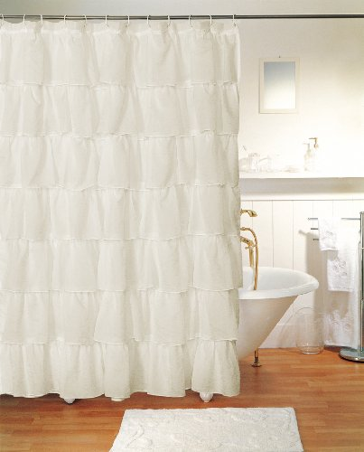 Cream Curtains With Black Flowers Target Ruffle Shower Curtain