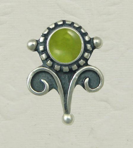 Peridot Sterling Silver Vicorian Stud Earrings When You Need Just a Little Bit of Color