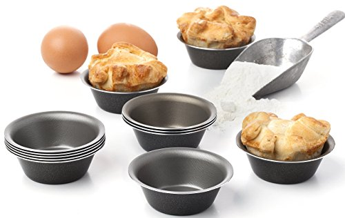 Maxi Nature Pack of 12 Mini Pie Muffin Cupcake Pans egg Tart Bakeware - 3.1 Inch Tins - 12 Molds NonStick Black bakeware (Pot Pie Pans Mini compare prices)