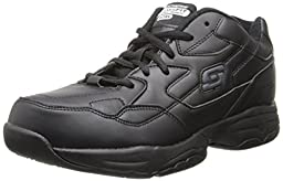 Skechers for Women\'s Work Albie Walking Shoe, Black, 5.5 M US