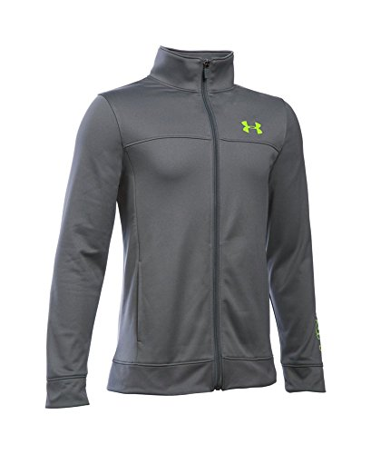 Under Armour Boys' Pennant Warm Up Jacket, Graphite (040), Youth Small