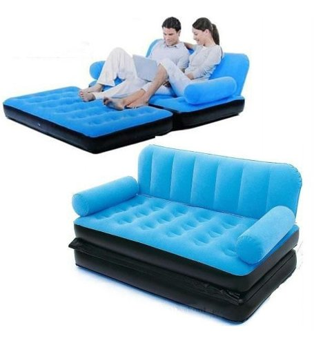 Inflatable Sofa Buy Online: Shopgenx Original Velvet Inflatable Sofa Large Pull Out Sofa Cum Bed Free Air Pump