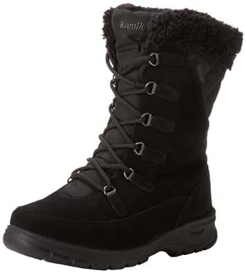 Kamik Women's Boston Snow Boot,Black,6 M US
