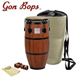 Gon Bops MB1225-KIT-1 Mariano Series 12.25-Inch Tumba with Universal Conga Risers, GoDpsMusic Polish Cloth and Carrying Bag