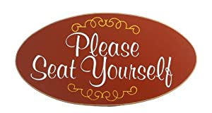 Handcrafted Wooden Sign - Please Seat Yourself