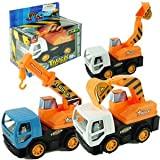 Friction Powered Mini Construction Truck Toy For Kids