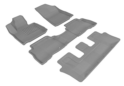 Kagu Rubber Black 3D MAXpider Complete Set Custom Fit All-Weather Floor Mat for Select Lexus RX350//450H Models