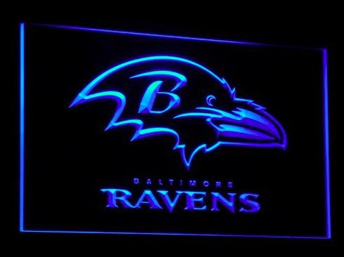 Baltimore Ravens Neon Light Ravens Neon Sign Neon Ravens
