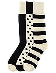 3-Pairs Mens Noble Mount Combed Cotton Dress Socks - Set A2