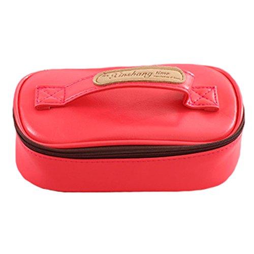 Trousses cas Papeterie Pen Pouch Sac Sacs cosmétiques sac de rangement, rouge