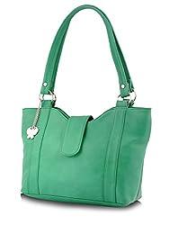 Butterflies Stylish Handbag (Green) (BNS 0298 GN)