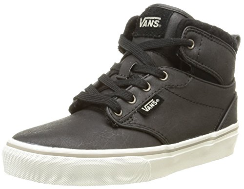 Vans - Y Atwood Hi Leather, Sneakers, infantile, grigio (leather/black/aluminum), 32