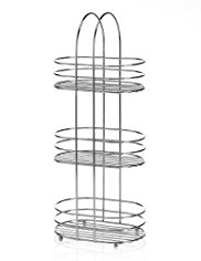 3 Tier Oval Shower Storage Unit