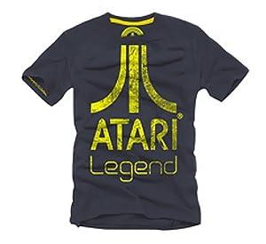 Coole-Fun-T-Shirts Men's T-Shirt with ATARI LEGEND Logo blue darkblue Size:S