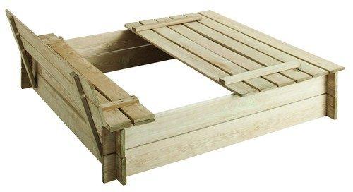 Bac à sable carré en bois Hugo avec couvercle jetzt bestellen