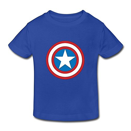 MKSD Cool Captain America Logo Design T-shirt For Kids Toddler