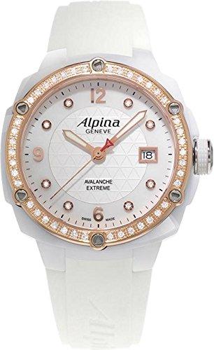Alpina Geneve Avalance Extreme Ceramic AL-240MPWD3AEDC4 Reloj para mujeres con diamantes genuinos