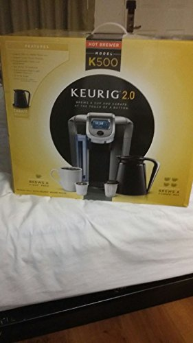 Keurig 2.0 K500 Coffee Brewing System With 4 Cup Carafe. Keurig Coffee Makers Are Top Quality, Brews Your Coffee To Perfection. This Keurig Coffee Machines Reads The Lid Of The K Cup And Auto Brews. Color Touch Display On Keurig Coffee Pots.