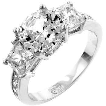 Bella Engagement Ring in Silver